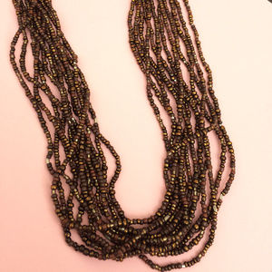 N1815 Retired Silpada Bronze Beaded Necklace MINT!